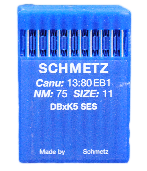 75/11 SHARP x100 SCHMETZ NEEDLES